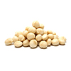 raw and roasted macadamia nuts